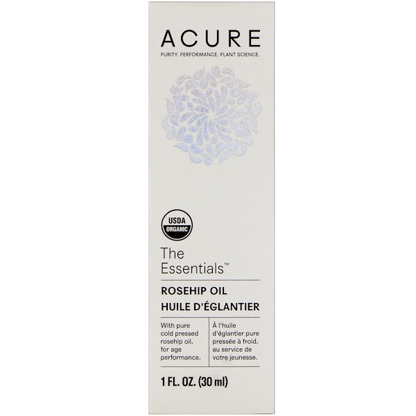 Acure Organics, The Essentials, Rosehip Oil, 1 fl oz (30 ml)