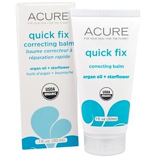 Acure Organics, Quick Fix Correcting Balm, Argan Oil + Starflower, 1 fl oz (30 ml)
