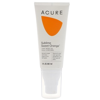 Acure Organics, Sublime Sweet Orange Light Body Oil, 3 fl oz (88.7 ml)