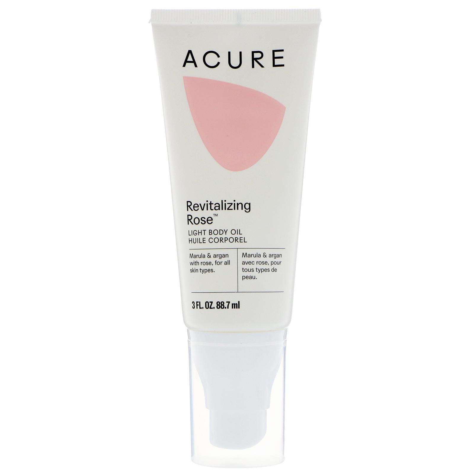 Acure, Revitalizing Rose, Light Body Oil, 3 fl oz (88 7 ml) - iHerb com