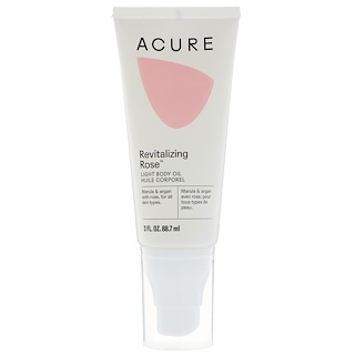 Acure Organics, Revitalizing Rose, Light Body Oil, 3 fl oz (88.7 ml)