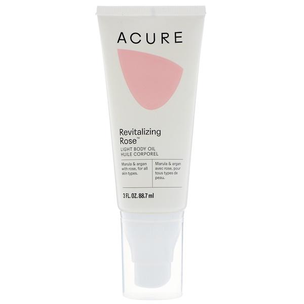 Acure, Revitalizing Rose, Light Body Oil, 3 fl oz (88.7 ml) (Discontinued Item)