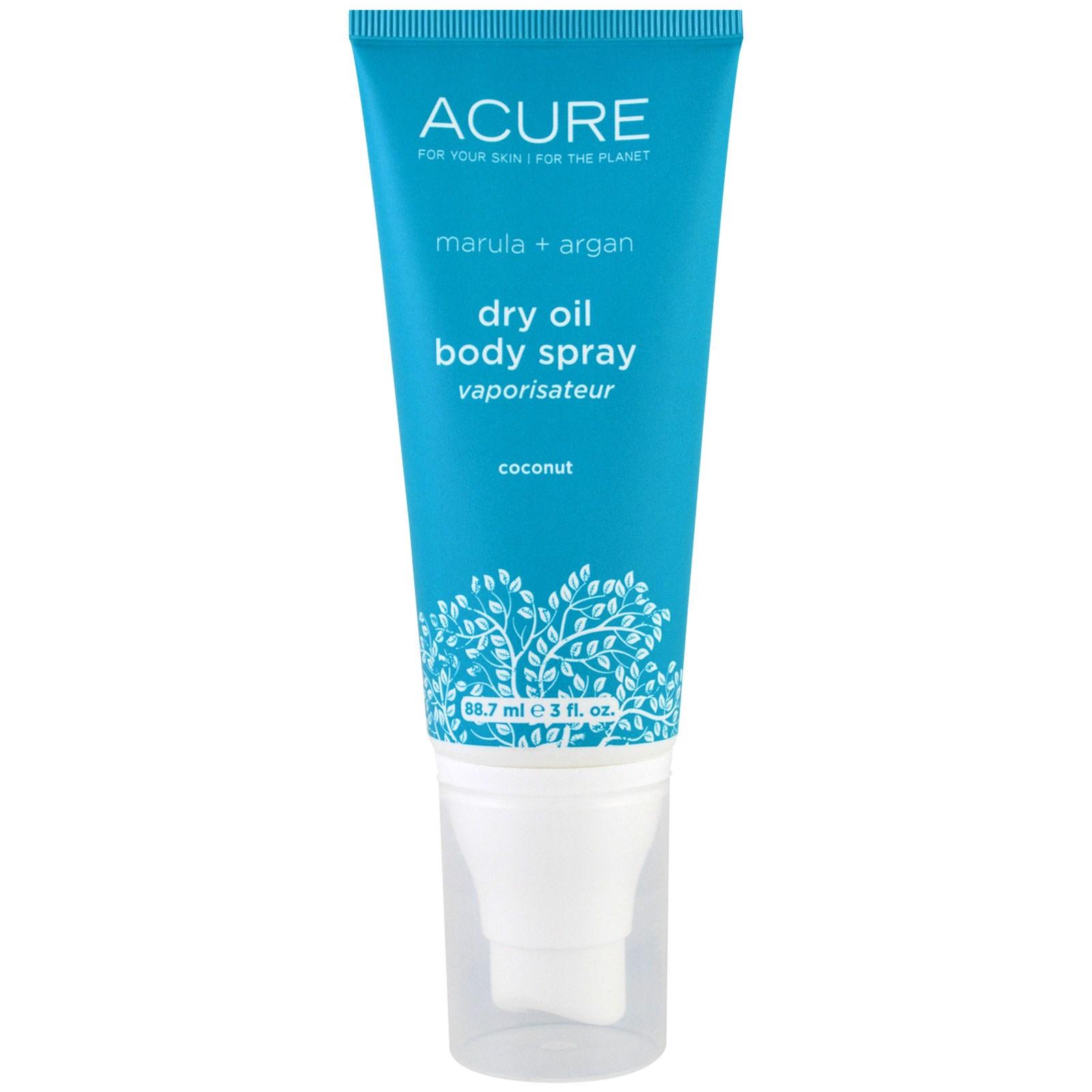 Acure Organics, Dry Oil Body Spray, Coconut, 3 Fl Oz (88.7