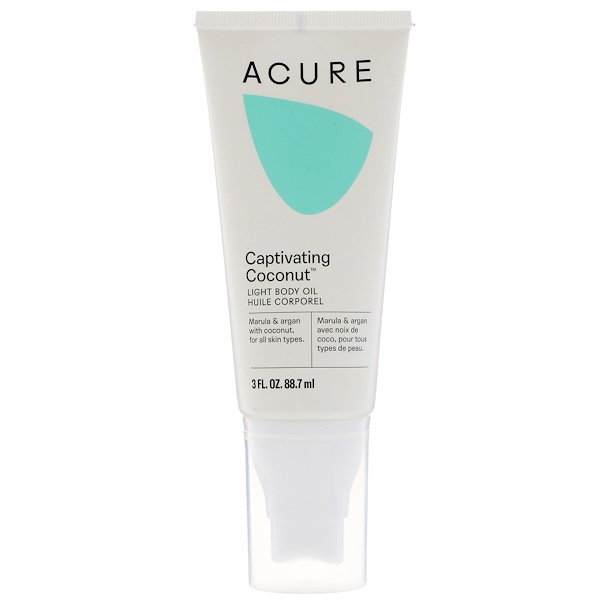 Acure, Light Body Oil, Captivating Coconut, 3 fl oz (88.7 ml) (Discontinued Item)