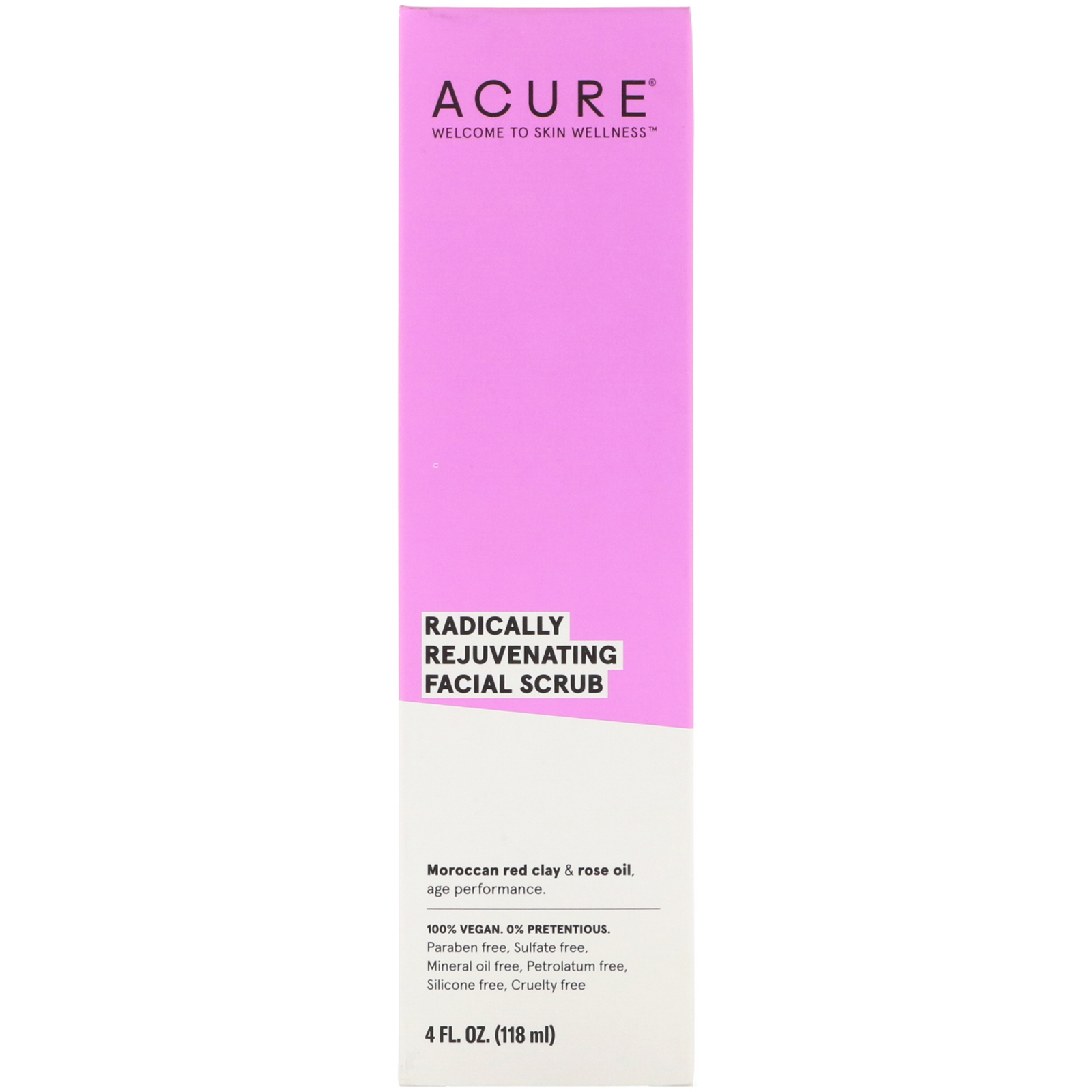 Acure, Radically Rejuvenating Facial Scrub, 4 Fl Oz (118