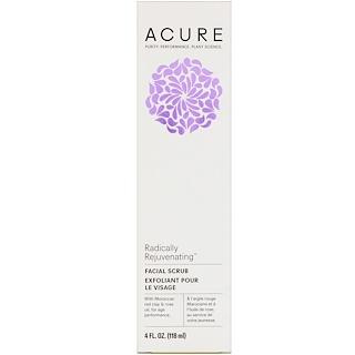 Acure Organics, Radically Rejuvenating, Facial Scrub, 4 fl oz (118 ml)