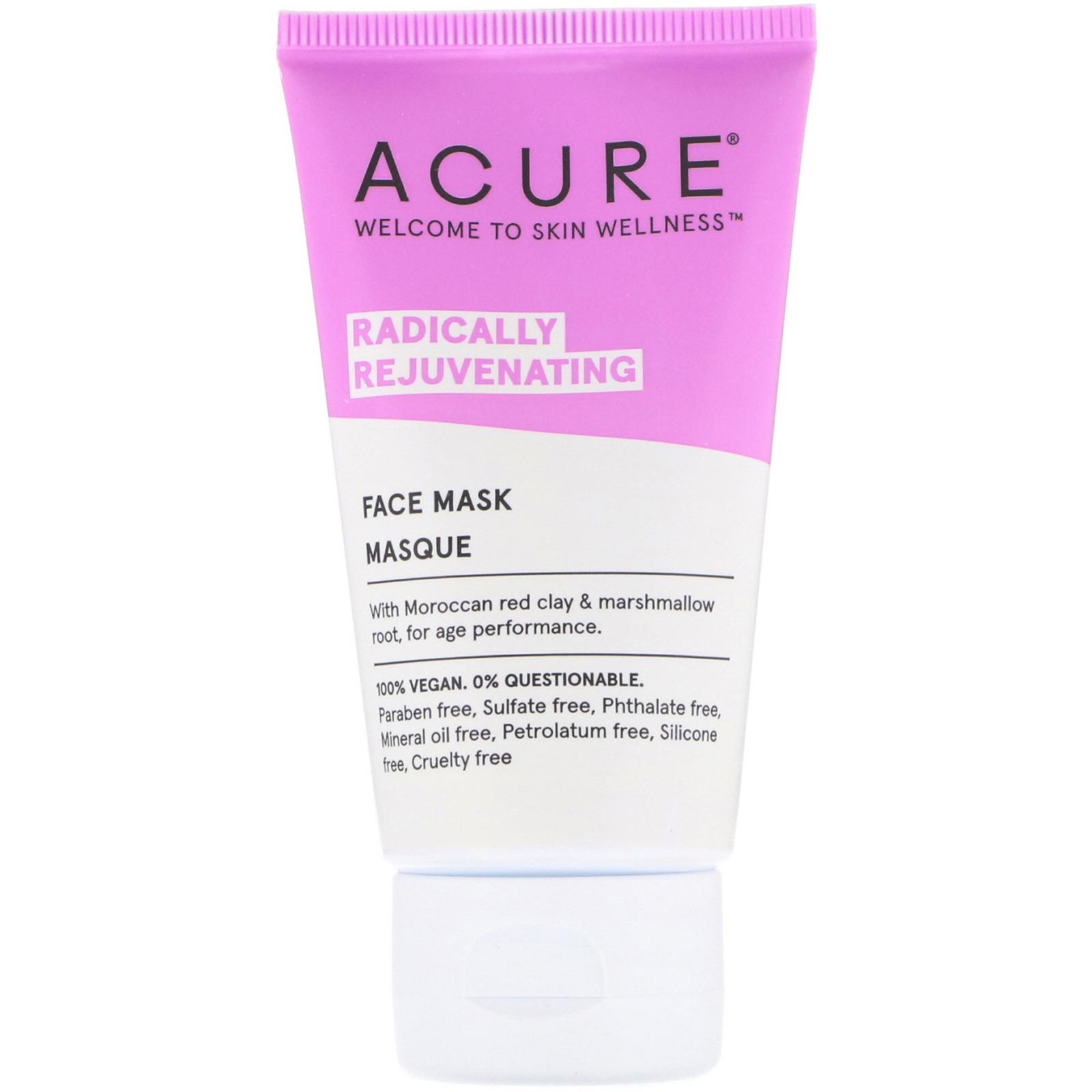 Acure, Radically Rejuvenating, Face Mask, 1.7 Fl Oz (50 Ml