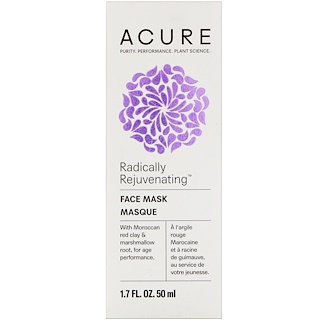 Acure, Radically Rejuvenating, Face Mask, 1.7 fl oz (50 ml)
