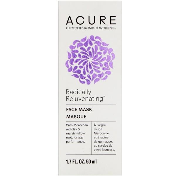 Acure, Radically Rejuvenating, Face Mask, 1.7 fl oz (50 ml)