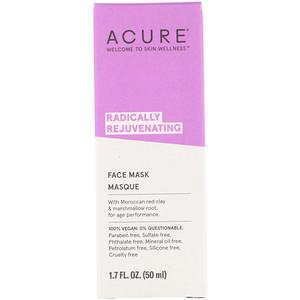 Акьюр Органикс, Radically Rejuvenating, Face Mask, 1.7 fl oz (50 ml) отзывы