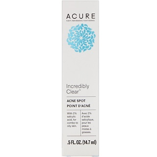 Acure, Incredibly Clear, Acne Spot, .5 fl oz (14.7 ml)
