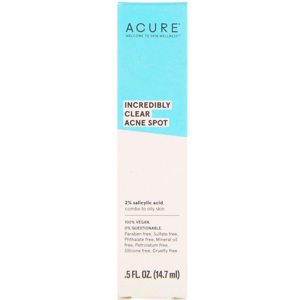 Acure, Incredibly Clear Acne Spot, .5 fl oz (14.7 ml) (Discontinued Item)