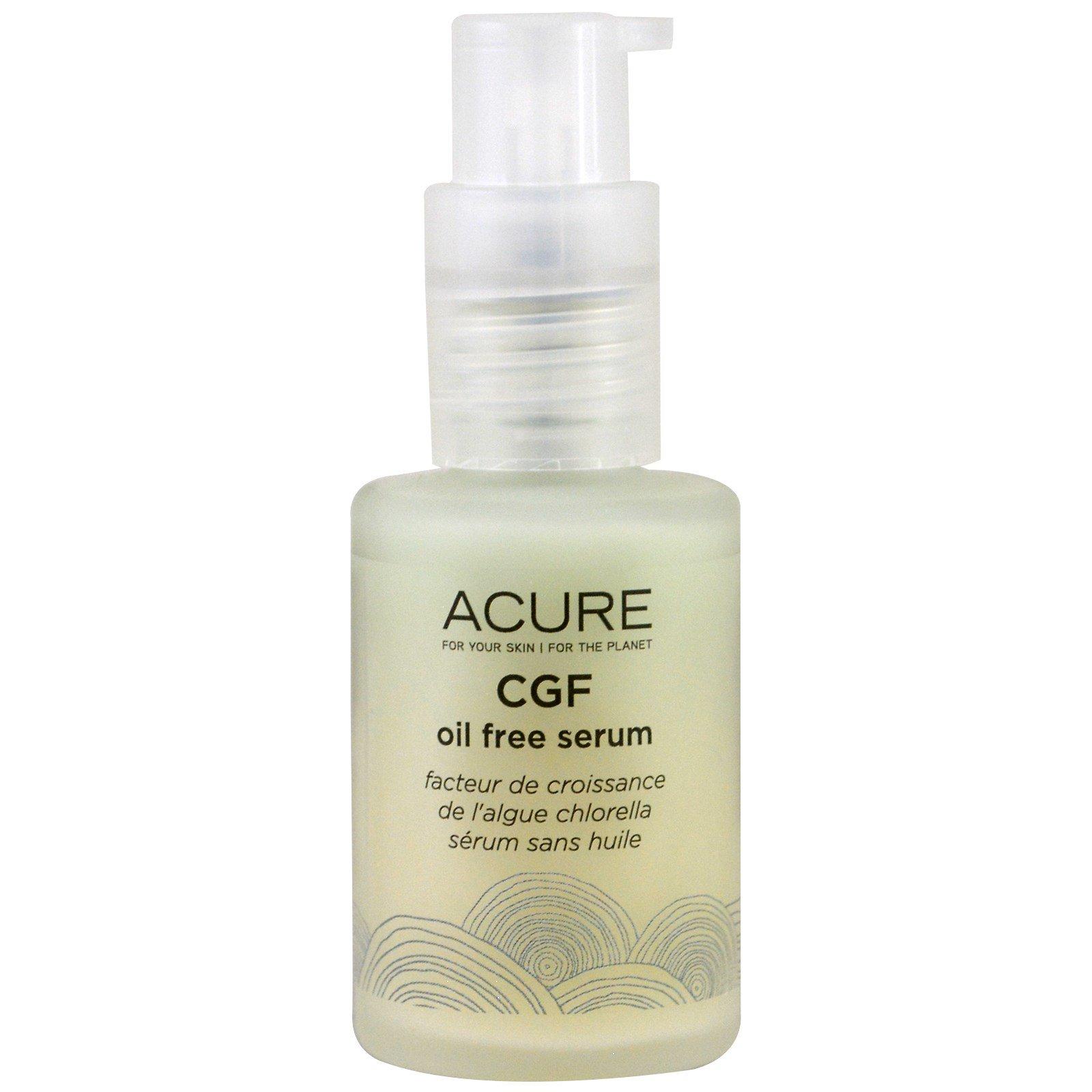 Acure Organics, Сыворотка CGF без масла, 1 жидкая унция (30 мл)