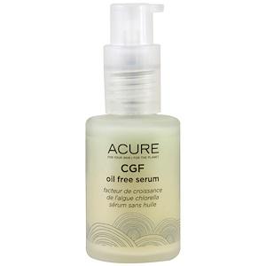 Acure Organics, Сыворотка CGF без масла, 1 жидкая унция (30 мл) купить на iHerb