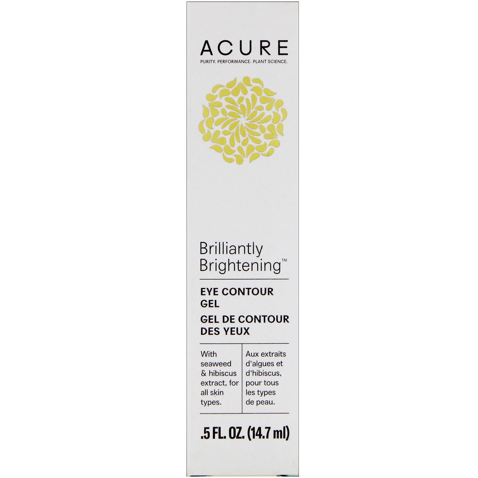 Acure Organics, Осветляющий контур глаз, морская водоросль + экстракт гибискуса, 14,7 мл (5 ж. унц.)