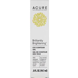 Acure Organics, Осветляющий контур глаз, морская водоросль + экстракт гибискуса, 14,7 мл (5 ж. унц.) купить на iHerb