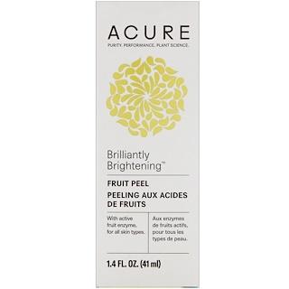 Acure Organics, Brilliantly Brightening, Fruit Peel, 1.4 fl oz (41 ml)
