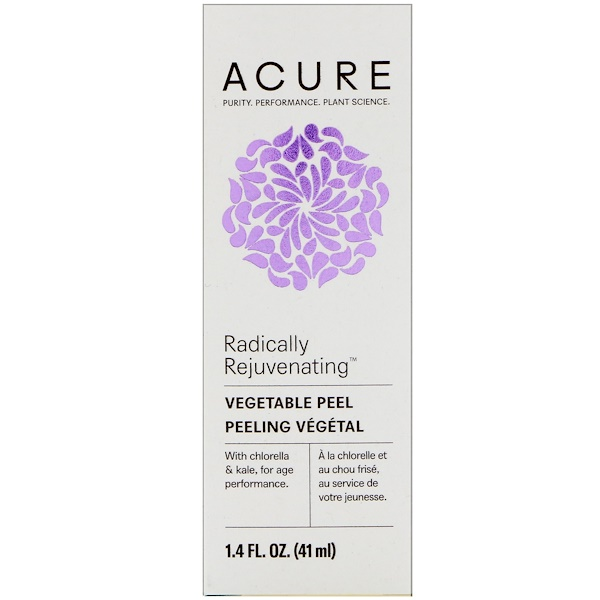 Acure, Radically Rejuvenating, Vegetable Peel, 1.4 fl oz (41 ml) (Discontinued Item)