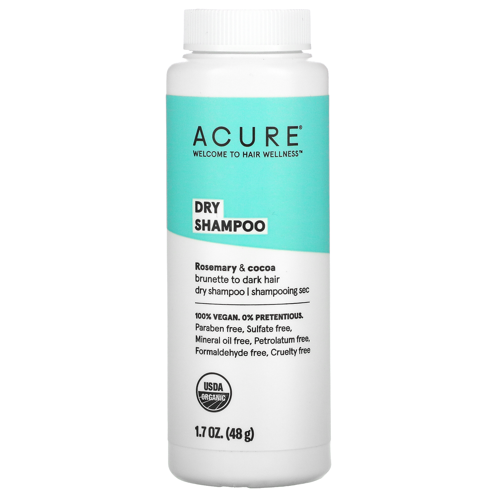 Acure Dry Shampoo Brunette To Dark Hair Rosemary Cocoa 1 7 Oz 58 G Iherb