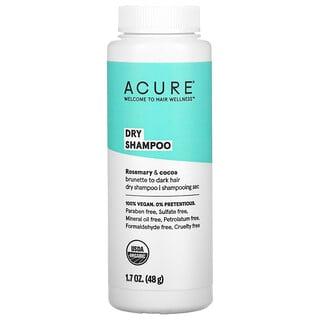 Acure, 干式洗发精,适合浅黑色到深色头发,1.7盎司(48克)