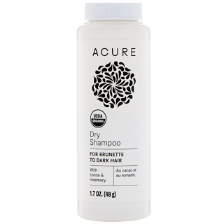 Acure, Dry Shampoo, For Brunette to Dark Hair, 1.7 oz (48 g)