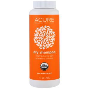 Acure Organics, Органический сухой шампунь, темно-каштановый оттенок, 1,7 унции (48 г) купить на iHerb