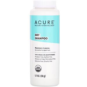 Акьюр Органикс, Dry Shampoo, Brunette to Dark Hair, Rosemary & Cocoa, 1.7 oz (58 g) отзывы покупателей