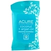 Acure, Cleansing Towelettes, Coconut + Argan Oil, 12 Towelettes