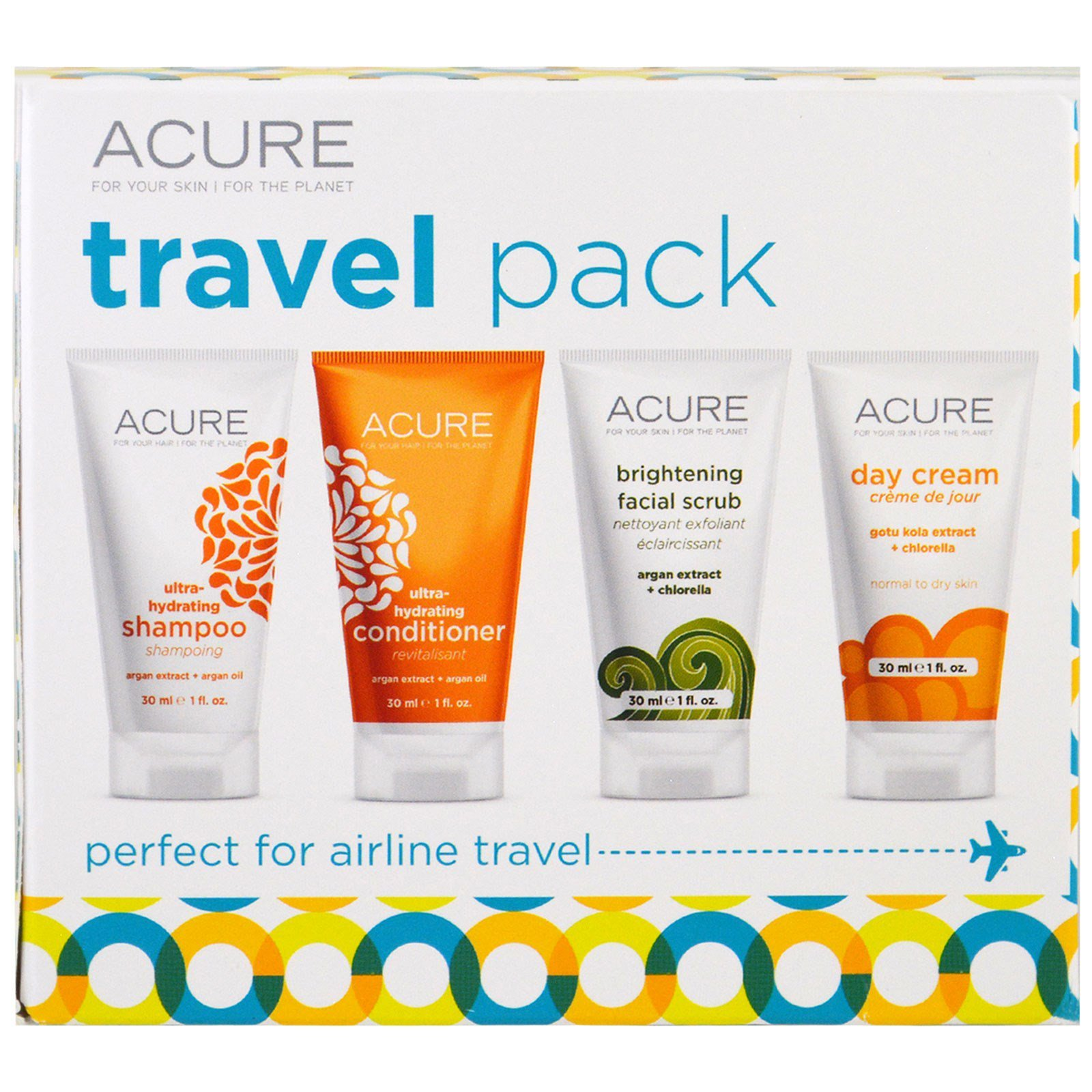Acure Organics, Travel Pack, Shampoo, Conditioner
