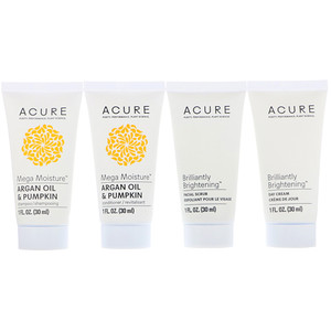 Акьюр Органикс, Travel Pack, Shampoo, Conditioner, Facial Scrub, Day Cream, 4 Pack, 1 oz (30 ml) Each отзывы покупателей
