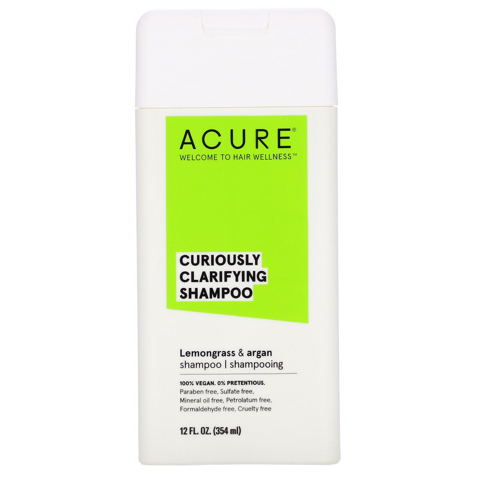 Acure, Curiously Clarifying Shampoo, Lemongrass & Argan