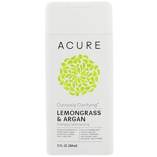 Acure, Curiously Clarifying Shampoo, Lemongrass & Argan, 12 fl oz (354 ml)