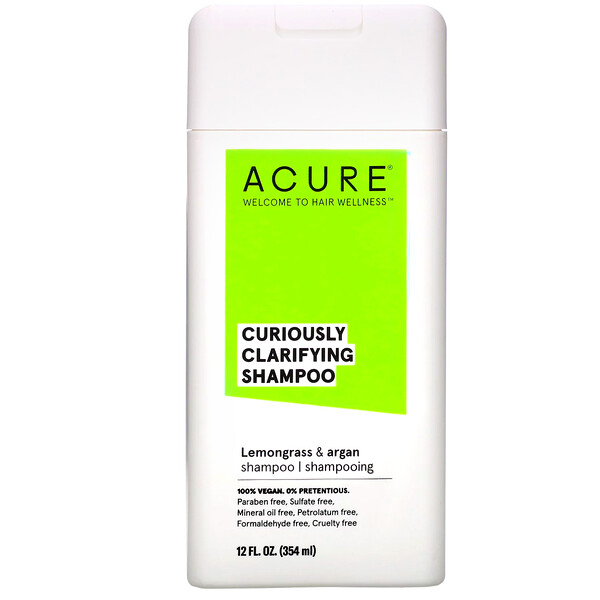 Acure, Curiously Clarifying Shampoo, Lemongrass & Argan, 12 fl oz (354 ml) (Discontinued Item)