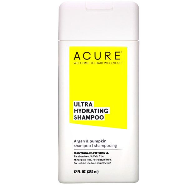 Acure, Ultra Hydrating Shampoo, Argan Oil & Pumpkin, 12 fl oz (354 ml) (Discontinued Item)