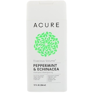 Acure, Vivacious Volume Shampoo, Peppermint & Echinacea, 12 fl oz (354 ml)