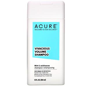 Акьюр Органикс, Vivacious Volume Shampoo, Mint & Echinacea, 12 fl oz (354 ml) отзывы покупателей