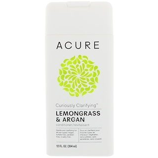 Acure Organics, Curiously Clarifying Conditioner, Lemongrass & Argan, 12 fl oz (354 ml)