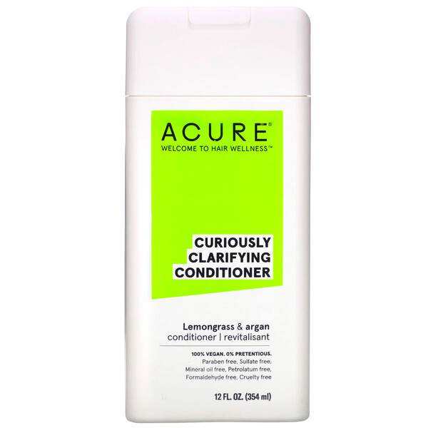 Acure, Curiously Clarifying Conditioner, Lemongrass & Argan, 12 fl oz (354 ml) (Discontinued Item)