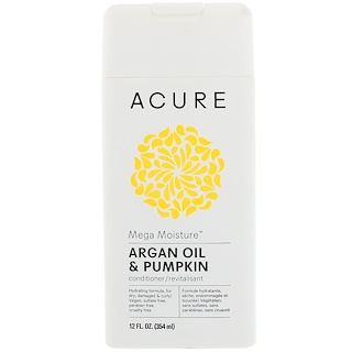 Acure Organics, Mega Moisture Conditioner, Argan Oil & Pumpkin, 12 fl oz (354 ml)