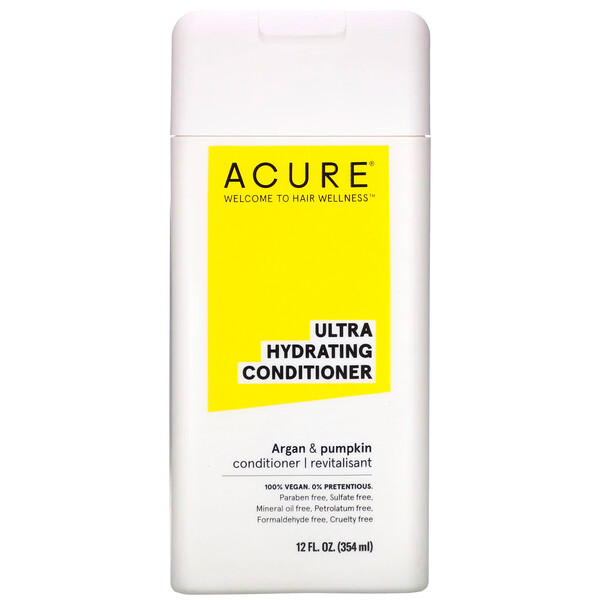 Acure, Ultra Hydrating Conditioner, Argan Oil & Pumpkin, 12 fl oz (354 ml)