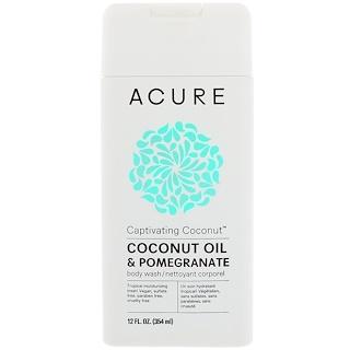Acure Organics, Captivating Coconut Body Wash, Coconut Oil & Pomegranate, 12 fl oz (354 ml)
