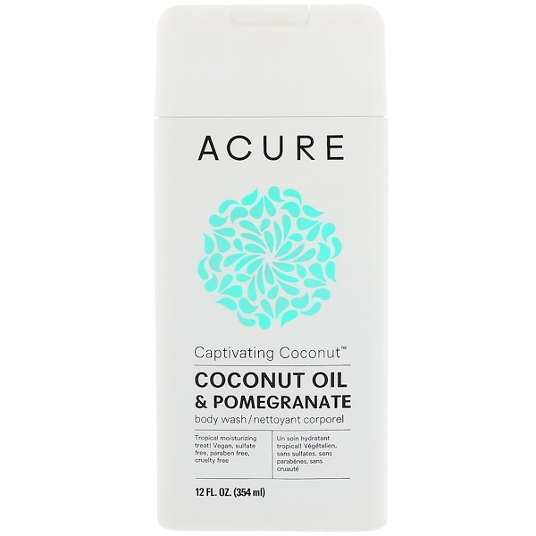 Acure, Captivating Coconut Body Wash, Coconut Oil & Pomegranate, 12 fl oz (354 ml) (Discontinued Item)