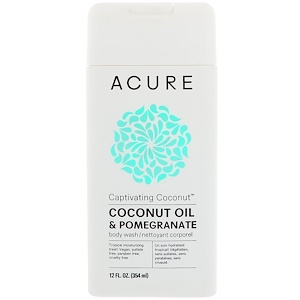 Акьюр Органикс, Captivating Coconut Body Wash, Coconut Oil & Pomegranate, 12 fl oz (354 ml) отзывы