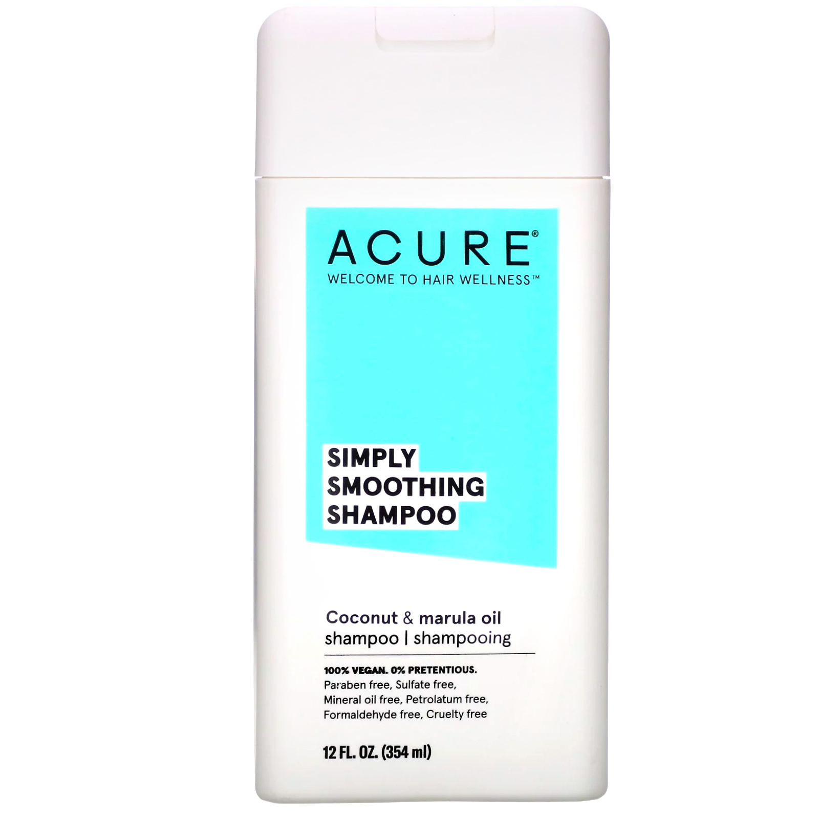 Acure, Simply Smoothing Shampoo, Coconut & Marula Oil, 12