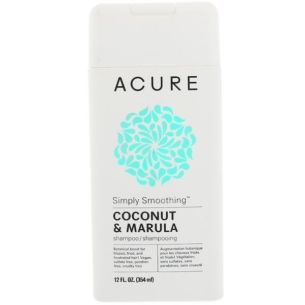 Acure Organics, Simply Smoothing Shampoo, Coconut & Marula, 12 fl oz (354 ml)