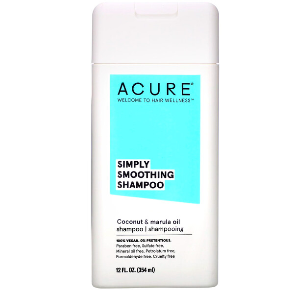 Acure, Simply Smoothing Shampoo, Coconut & Marula Oil, 12 fl oz (354 ml) (Discontinued Item)