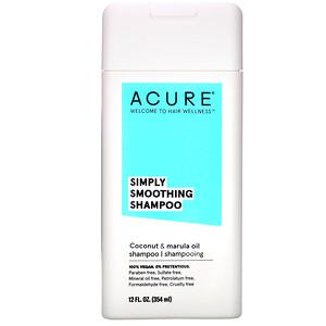 Акьюр Органикс, Simply Smoothing Shampoo, Coconut & Marula Oil, 12 fl oz (354 ml) отзывы покупателей