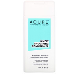 Acure, Simply Smoothing Conditioner, Coconut & Marula Oil, 12 fl oz (354 ml)
