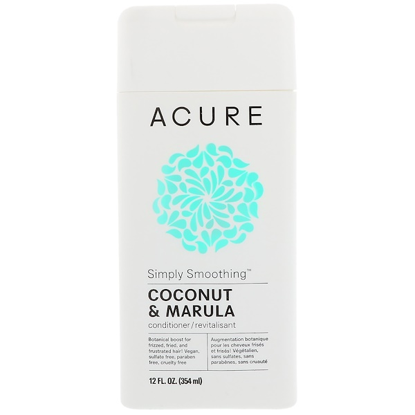 Acure Organics, Simply Smoothing Conditioner, Coconut & Marula, 12 fl oz (354 ml)