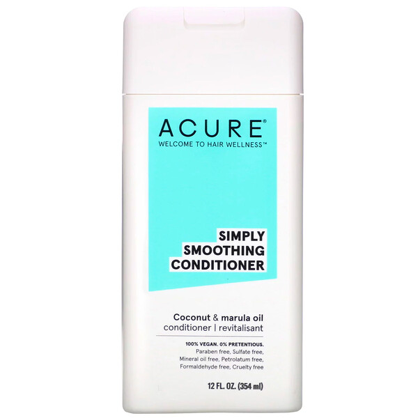 Acure, Simply Smoothing Conditioner, Coconut & Marula Oil, 12 fl oz (354 ml) (Discontinued Item)